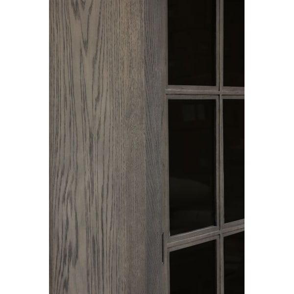 Vitrína Cross Smoked, 130x210x43 cm