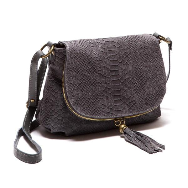 Šedá kožená kabelka Sofia Cardoni Rosetta