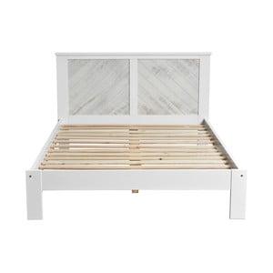 Bílá dvoulůžková postel Marckeric Roma, 153 x 198 cm