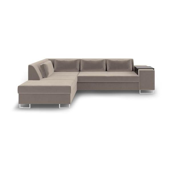 San Antonio bézs kinyitható kanapé, bal oldali - Cosmopolitan Design