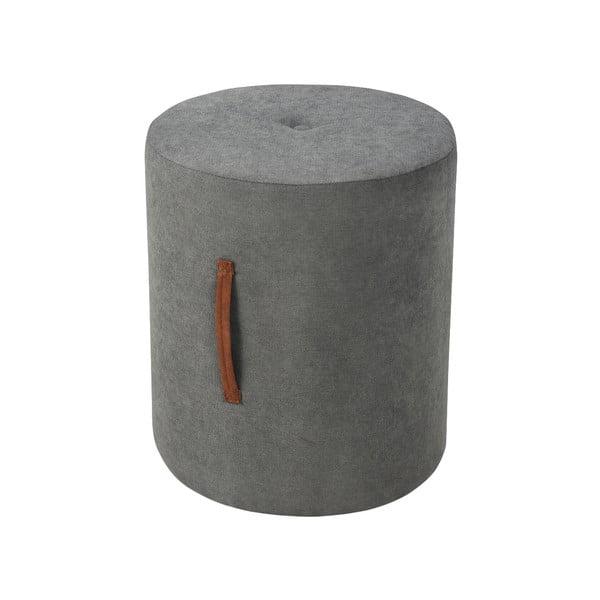 Tmavě šedá taburetka Kooko Home Motion, ø40cm