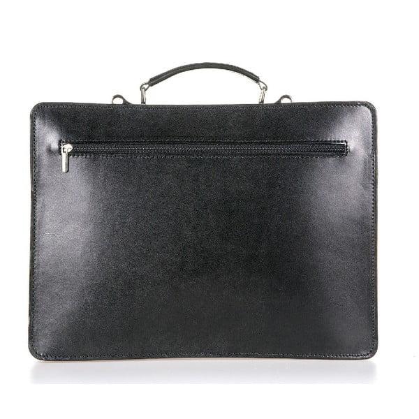 Černá kožená taška přes rameno Italia in Progress Maestro