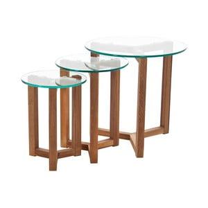 Konferenční stolek s dubovým podnožím Actona Osaka
