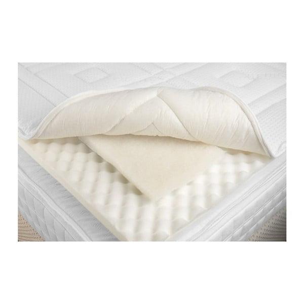 Pěnová podložka na matraci s vlněnou výplní PiCaSo manufactury Relax, 180x200cm