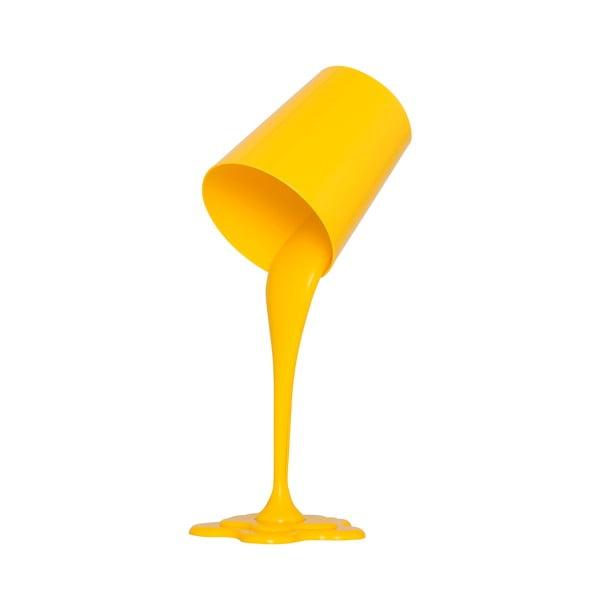 Homemania Ximena sárga asztali lámpa