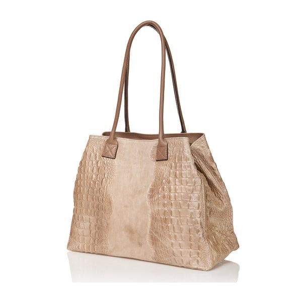Kožená kabelka Anabela, béžová