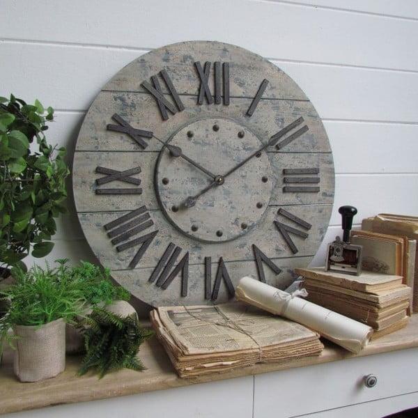 Nástěnné hodiny Industrial Gray, 63 cm