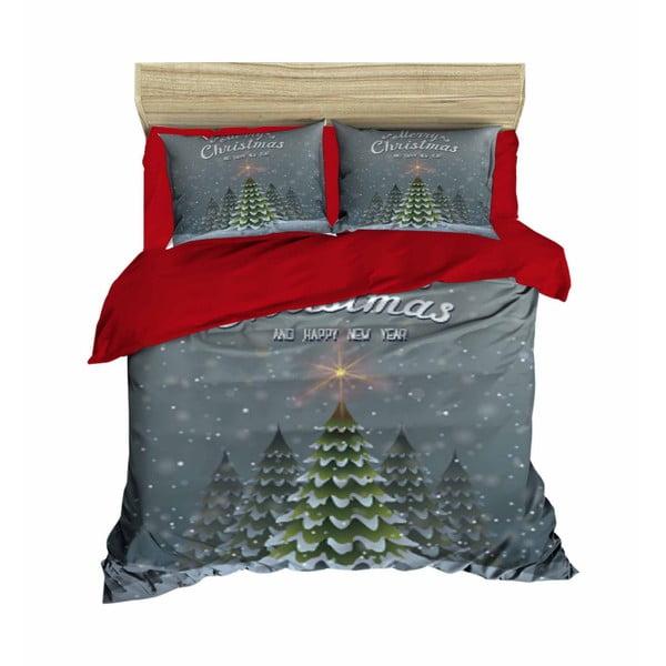 Reyna karácsonyi, kétszemélyes ágyneműhuzat lepedővel, 160 x 220 cm