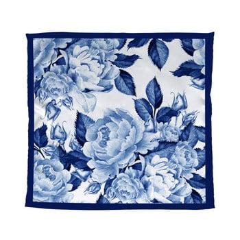 Eșarfă Madre Selva Blue Flowers, 55 x 55 cm, albastru imagine