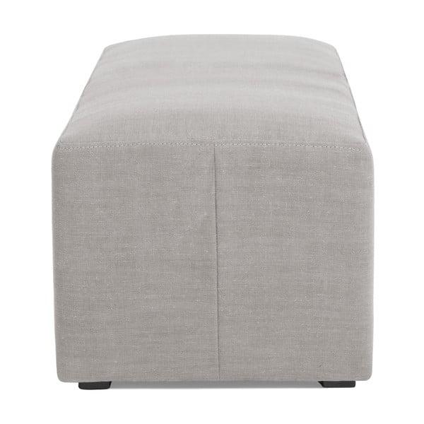 Světle šedý puf Vivonita Grace Linen, 122x46cm