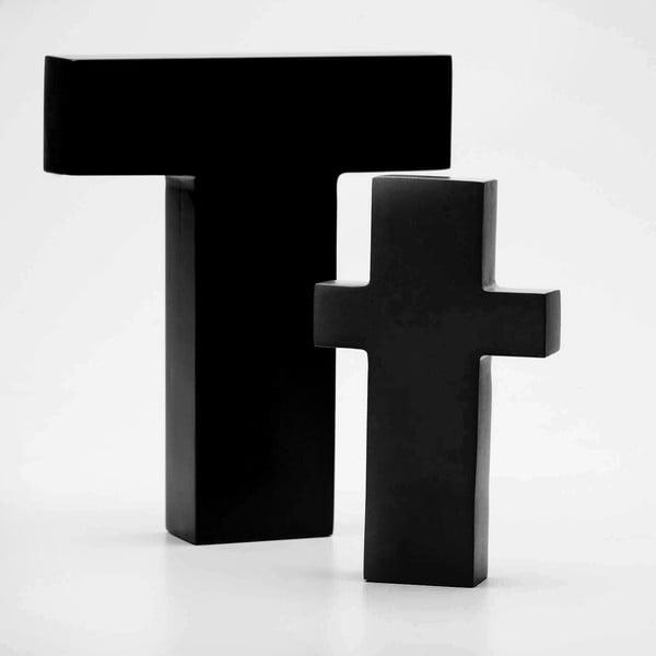 """Velké """"T"""" 17x14 cm, černá"""