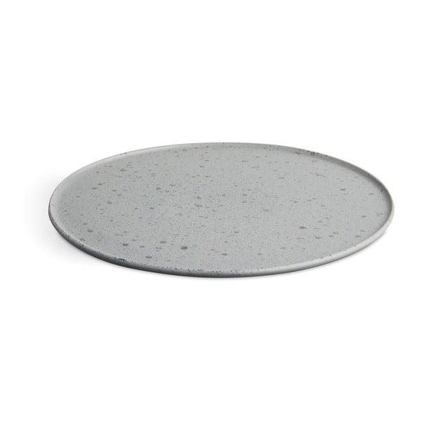 Sivý kameninový tanier Kähler Design Ombria, ⌀ 27 cm