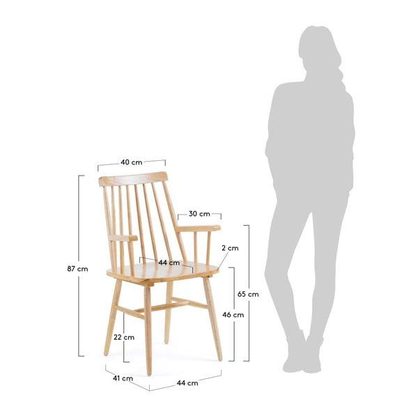 Přírodní jídelní židle ze dřeva kaučukovníku La Forma Kristie