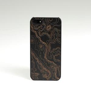 Dřevěný kryt na iPhone 5, Topo design