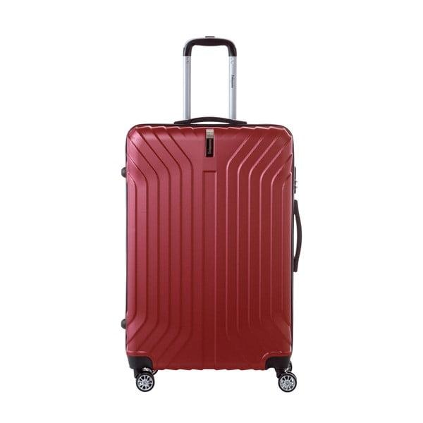 Tmavě červený cestovní kufr na kolečkách SINEQUANONE Tina, 107 l