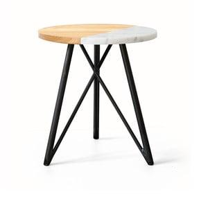 Odkládací stolek NUTSANDWOODS Marbledip