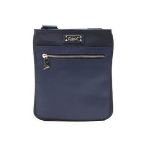 Modrá kožená pánská taška přes rameno Alviero Martini Sereto