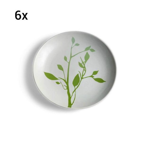 Sada 6 keramických talířů Impression