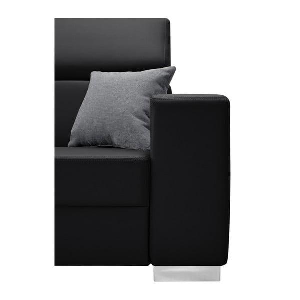 Černá sedačka se šedými polštáři Interieur De Famille Paris Tresor, levý roh