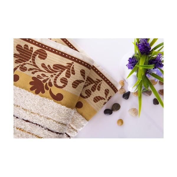 Set dvou ručníků Melodi Light Brown, 50x90 cm