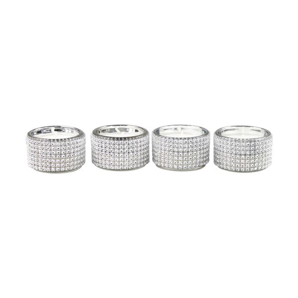 Set 4 svícnů CIMC Diamante Tealight