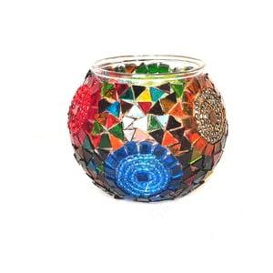 Suport din sticlă pentru lumânare Homemania Orienatl Sun