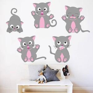 Samolepka na stěnu Koťátka, 50x70 cm
