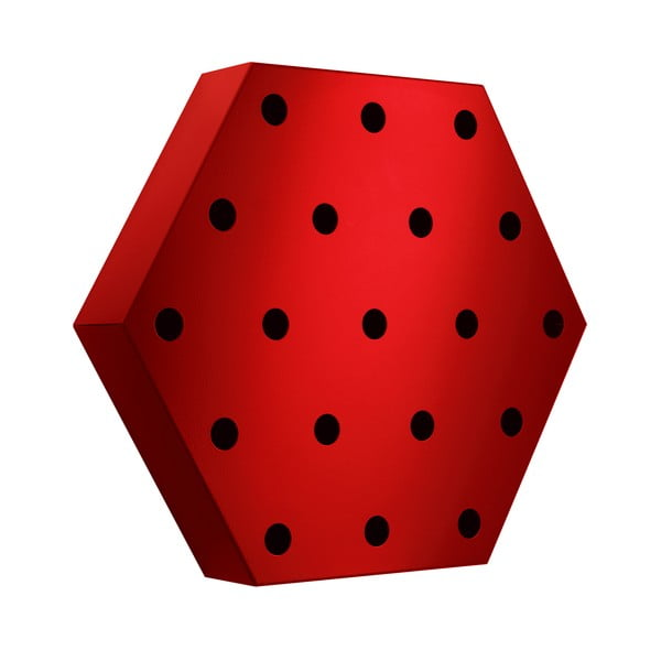 Stojan na víno Hexagon Maxi, červený