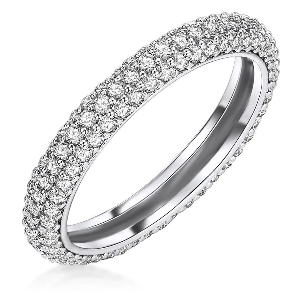 Dámský prsten stříbrné barvy Runaway Clara, 54