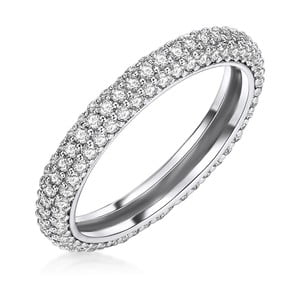 Dámský prsten stříbrné barvy Runway Clara, 56