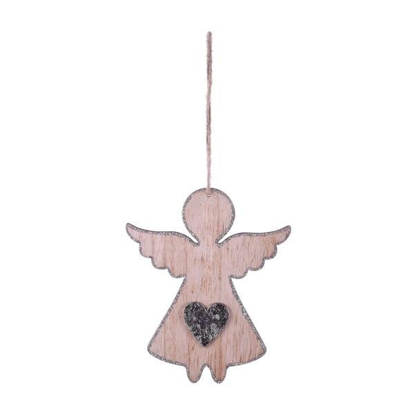 Velká závěsná vánoční dekorace ve tvaru anděla se srdcem Ego dekor