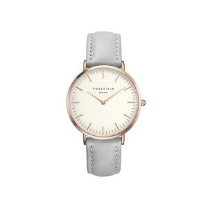 Bílošedé dámské hodinky Rosefield The Bowery