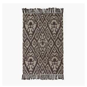 Hnědý koberec Lluvia, 60 x 90 cm