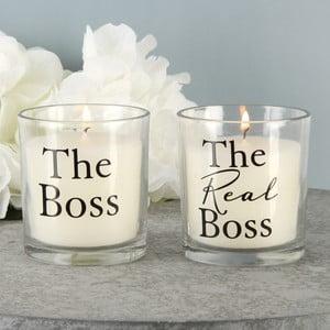 Sada 2 svíček s vůní bavlny Amore Boss, 18hodinhoření