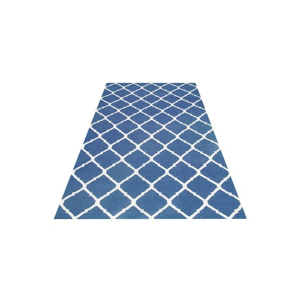 Vlněný koberec Julia Dark Blue, 155x240 cm