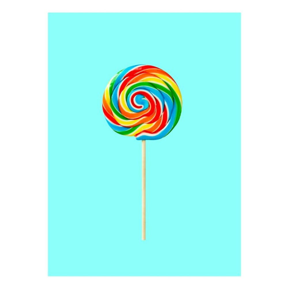 Plakát Blue-Shaker Objets Cultes Lollypop, 30 x 40 cm