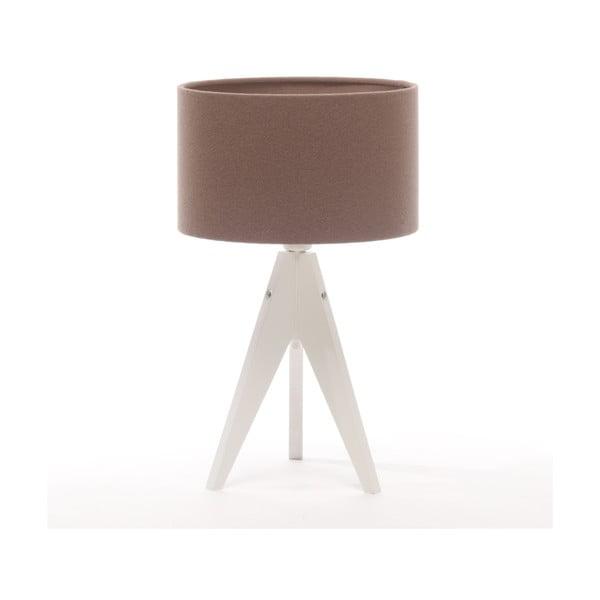 Stolní lampa Arist Cylinder Dark Taupe/White
