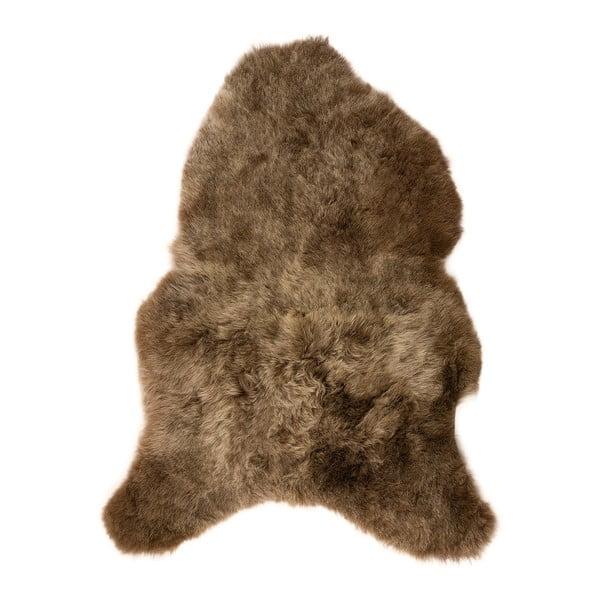 Hnědá ovčí kožešina s krátkým chlupem, 100x60cm
