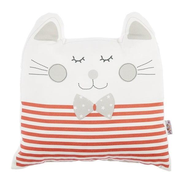 Pernă din amestec de bumbac pentru copii Apolena Pillow Toy Big Cat, 29 x 29 cm, roșu