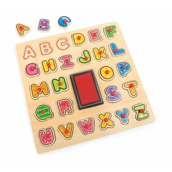 Joc din lemn Legler ABC Stamp & Puzzle imagine