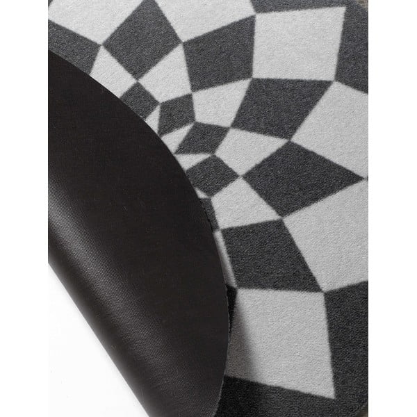 Dětský šedý koberec Hanse Home Geometrie, ⌀100cm