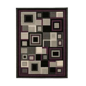 Černofialový koberec Think Rugs Hudson, 60x120cm