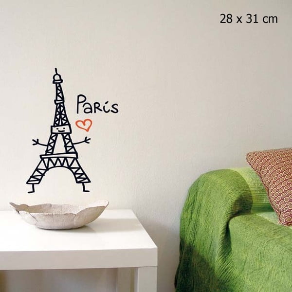 Samolepka Love Paris 28x31 cm