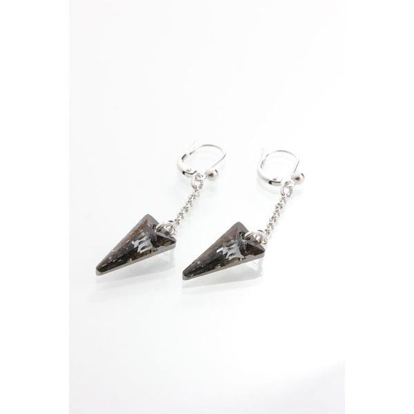 Černé náušnice se Swarovski krystaly Yasmine Crystal