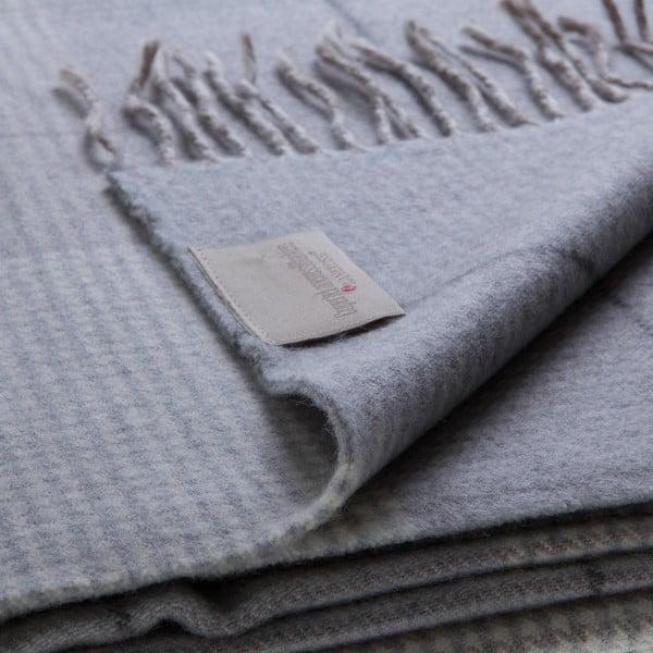 Vlněný pléd Murano 130x180 cm, šedý