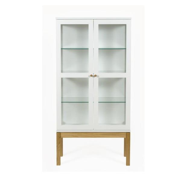 Biała biblioteczka/witryna Woodman Abbey Wood