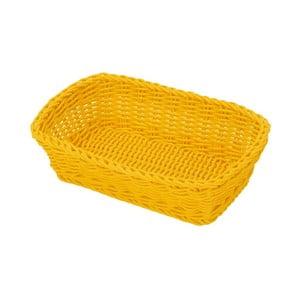 Košík Korb Yellow, 26,5x19x7 cm