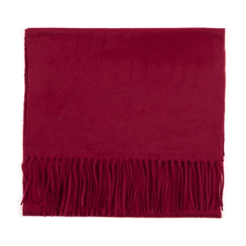 Tmavě červená kašmírová šála Bel cashmere Dina, 180 x 30 cm