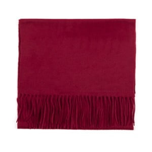 Tmavě červená kašmírová šála Bel cashmere Dina, 180x30cm