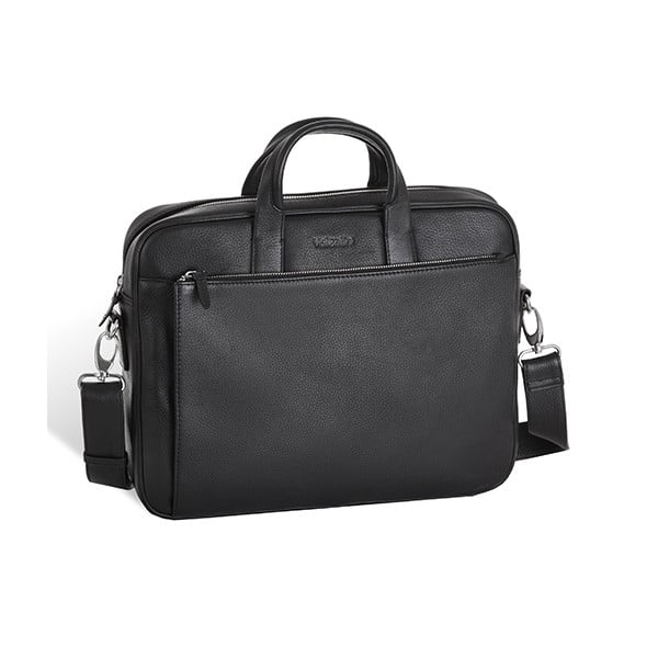 Kožená taška Valentini 519, černá